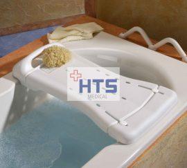DuBaStar fürdető pad, fogantyúval, 69 x 29 cm, fehér