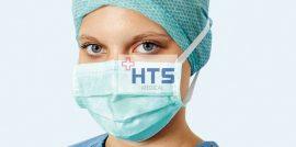 Hartmann Foliodress műtéti szájmaszk Senso Comfort zöld 50db