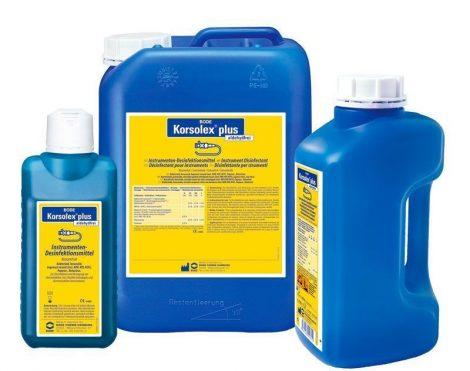 Hartmann Korsolex plus 2l, aldehidmentes tisztítóhatású eszközfertőtlenítő koncentrátum