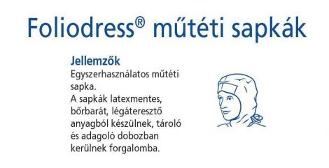 Hartmann Foliodress műtéti sapka Astro plus Comfort  100db