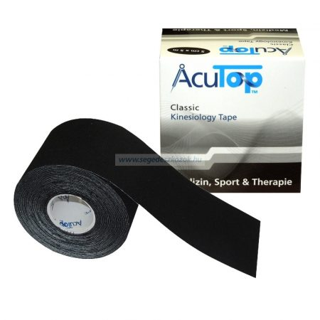 ACUTOP Classic Kineziológiai Szalag 5 cm x 5 m Fekete